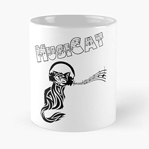 - Cat Music Sweet Funny - Coffee Mugs,handmade Funny 11oz Mug Best Holidays Gifts For Men Women Friends.
