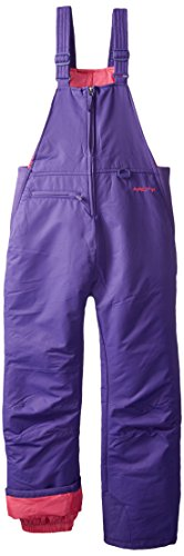 Arctix Insulated Youth Snow Bib Overalls, Purple, Medium