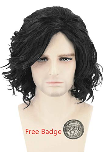 Halloween Costumes With Short Hair (Topcosplay Mens Hair Wigs Black Short Curly Fluffy Cosplay Halloween Costume Party)
