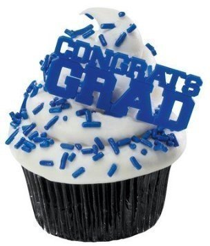 Blue Congrats Grad Cupcake Picks (48-Pack)