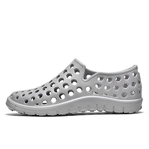 Color On shoes spillo Sandali a Tacco 2018 da donna da Xujw Dimensione Grigio Impermeabili EU con Slip da Outdoor Sandali Vamp Hollow e 44 Rosso Uomo tacco uomo BfC6T