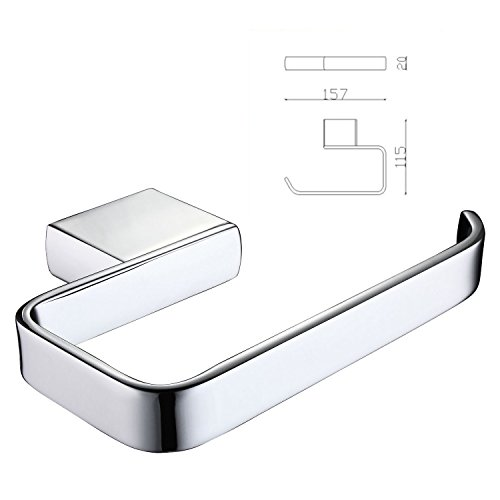 ThinkTop Luxury Brass Toilet Tissue Paper Holder Roll Roller Hanging Wall Mounted Bathroom Accessories, Chrome finished by ThinkTop (Image #5)
