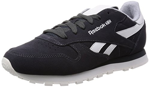 Damen Suede Reebok Leather Cl Chalk Gravel Laufschuhe Schwarz qttOP7xn