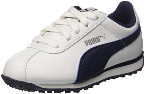 Puma Turin PS, Zapatillas Unisex Niños Blanco (Puma White-peacoat)