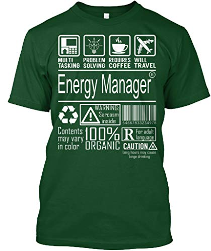 (Energy Manager 100 Organic L - Deep Forest Tshirt - Hanes Tagless Tee)