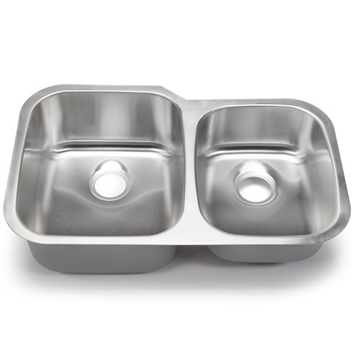 Hahn Chef Series SS004 32-Inch Undermount 60/40 Double Bowl (Series Premium Bowl Double)