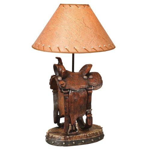 Saddle Table Lamp - Saddle Lamp Western