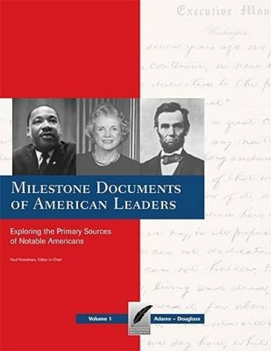 Books : Milestone Documents of American Leaders: Exploring the Primary Sources of Notable Americans