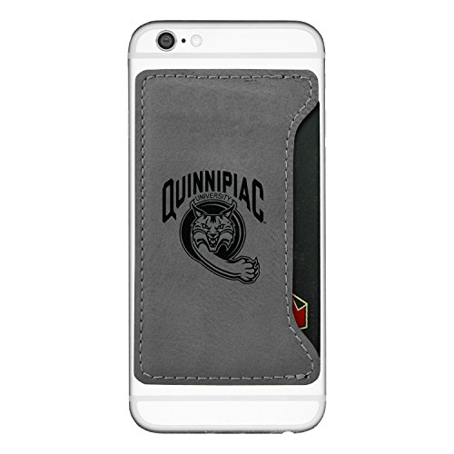 Quinnipiac University -Cell Phone Card Holder-Grey