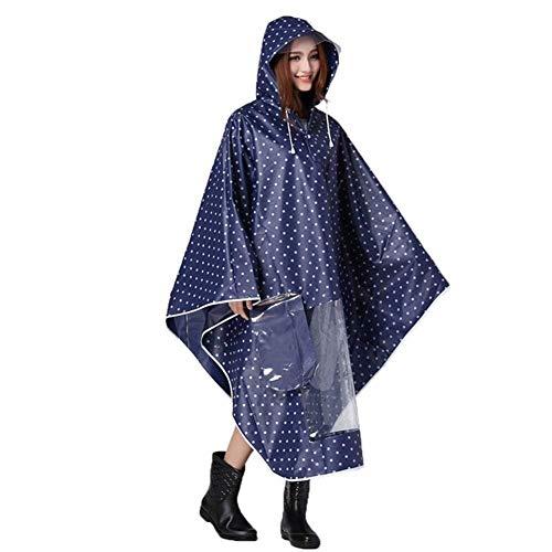 Rainwear Trench Parka Donna Anaisy Dunkelblau Moto Motorcycle Poncho Coat Da Impermeabile Dots Giovane Piumino Bicycle aqx4gPF