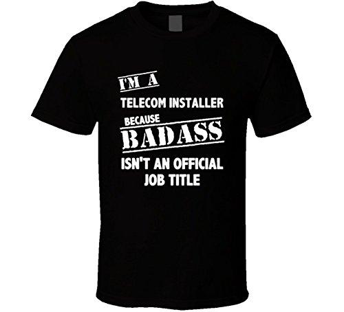 Buy cheap telecom installer badass official job title occupation cool shirt black