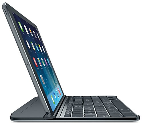 Logitech Ultrathin Magnetic Clip-On Keyboard Cover for iPad Air, Space Gray (Certified Refurbished) by Logitech