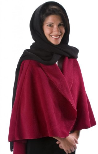 Janska Women's Hooded Scarf - One Size - Classic Black - Classic Hooded Hat