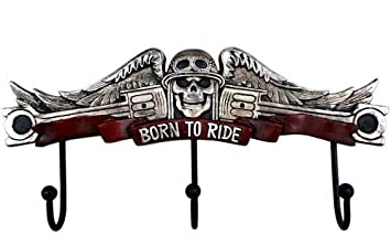 Amazon.com: Rustic Born To Ride Skull Wings Piston ...