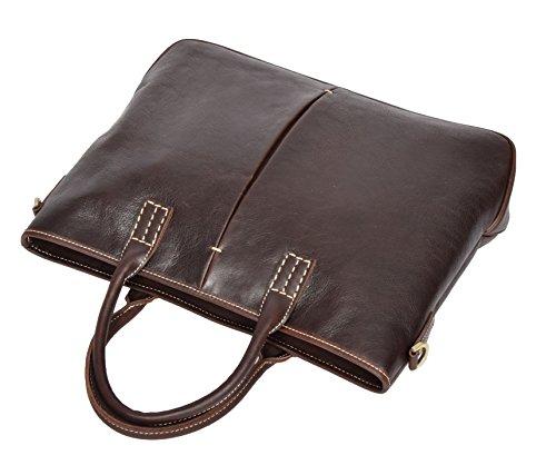 Brown Body Bag Organiser Office Work Shoulder Handbag Tote Cross Leather Ladies H8099 6q0ZPP
