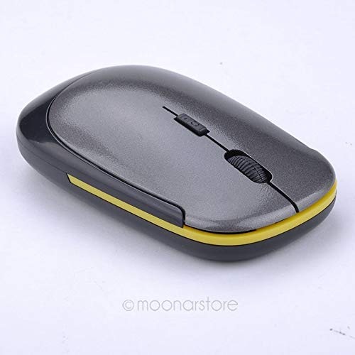 Wireless Mouse Ultra Slim U-Shaped 2.4ghz Wireless Mouse Mini USB Receiver Wireless 1600dpi Optical Gaming Mouse Gray ()