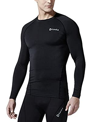 Tesla Men's Long Sleeve T-Shirt Baselayer Cool Dry Compression Top R11/R19