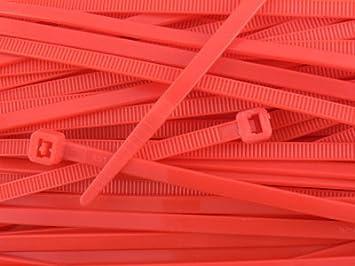100 Pack 8 Inch Yellow Intermediate Nylon Zip Tie
