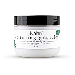 Activated Charcoal Teeth Whitener Kit: Nalani All Natural Whitening Granules - Organic Toothpaste Alternative with Coconut Oil and Charcoal Powder - Professional Tooth Whitening Products - 2 Ounces