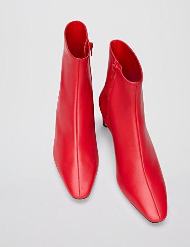 Vind Enkel Laarzen Met Hoge Schacht Rode (rood 007)