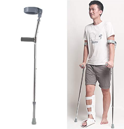 (Folding Crutches,Standard Handle, Double Adjustable, Telescopic Forearm Crutch Assistance, Lightweight Walking Aid -)