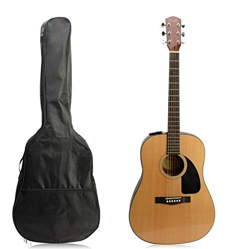 aterproof Nylon Acoustic Guitar Gig Bag Soft Case Cover Black (Guitar Case Cover)