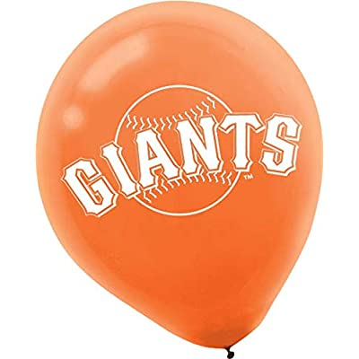 """San Francisco Giants Major League Baseball Collection"" Printed Latex Balloons, Party Decoration: Toys & Games"