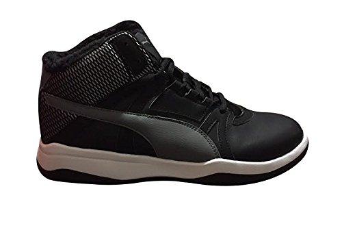 PUMA Rebound Street Evo Fur Black/Quiet Shade/Silver/White 7.5 Kwpu3U