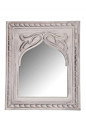 Orient Spiegel Wandspiegel Junis 47cm Groß Weiß Großer