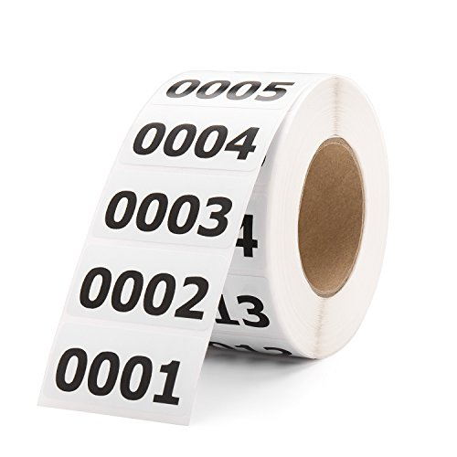 Shiplies Consecutive Number Labels Inventory Stickers for Office Supplies, Inventory, Warehouse and Organizing (1.6