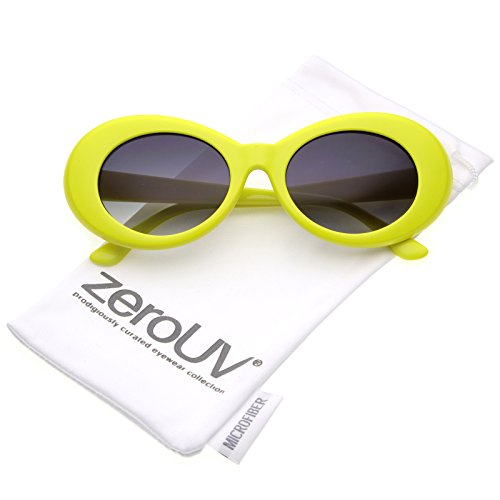 zeroUV - Retro Colorful Tapered Arms Neutral Colored Gradient Lens Oval Sunglasses 50mm ()