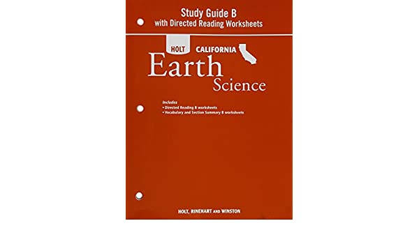 Holt Science & Technology California: Study Guide B With Directed ...