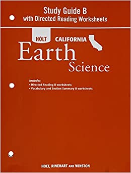 Printables Holt Science And Technology Worksheets holt science technology california study guide b with directed reading worksheets grade 6 earth rinehart and w