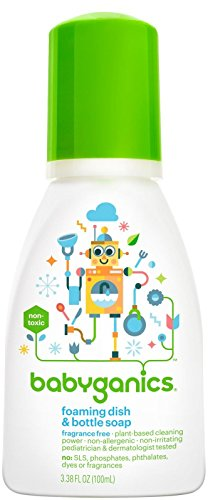 Babyganics Foaming Dish & Bottle Soap - Fragrance Free - 3.38 oz