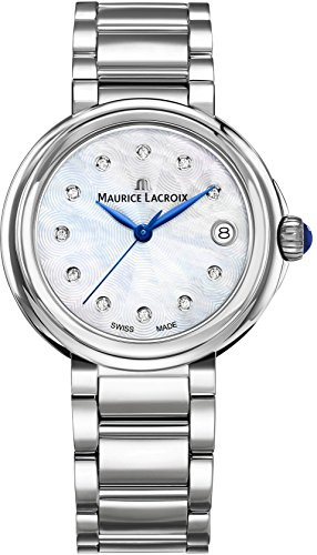 Maurice Lacroix Women's 'Fiaba' Swiss Quartz Stainless Steel Casual Watch, Color:Silver-Toned (Model: FA1007-SS002-170-1)