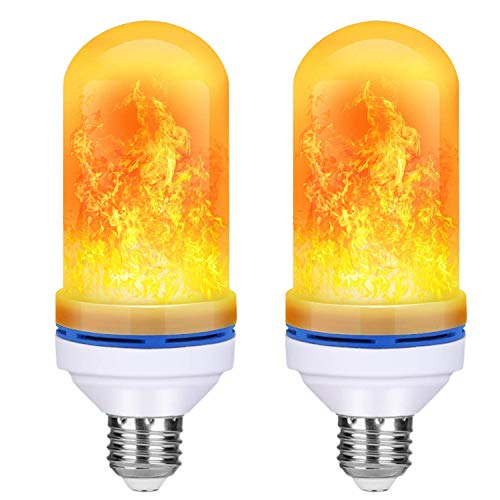 NISUNS LED Flame Effect Light Bulb, E26 LED Flickering Flame Effect Ligh for Halloween Decorations/Holiday Hotel/Bar / Party/Home, 2 Pack for $<!--$10.99-->
