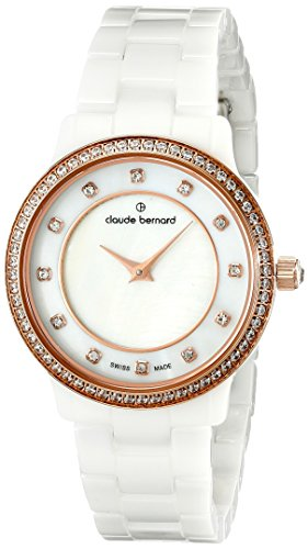 Claude Bernard Women's 20203 BR B Dress Code - Quartz Analog Display Swiss Quartz White Watch