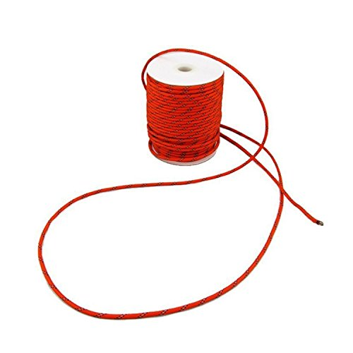 - UrCool multi-purpose cord Reflective Cord Guy Line Rope Clothesline Made of 100% Nylon Perfect , hanging bear bags, boating, tying up tarps or shelters in 5mm 30M Red