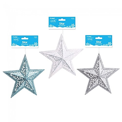Holiday Essentials Large Glitter Star Decoration by