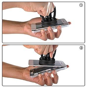 Negro etc SCSpecial 2.2 Pulgadas Ventosa Conjunto de 2 Levantar Ventosas Extractor de Pantalla para Reparar Tel/éfonos Celulares Autom/óviles Computadoras