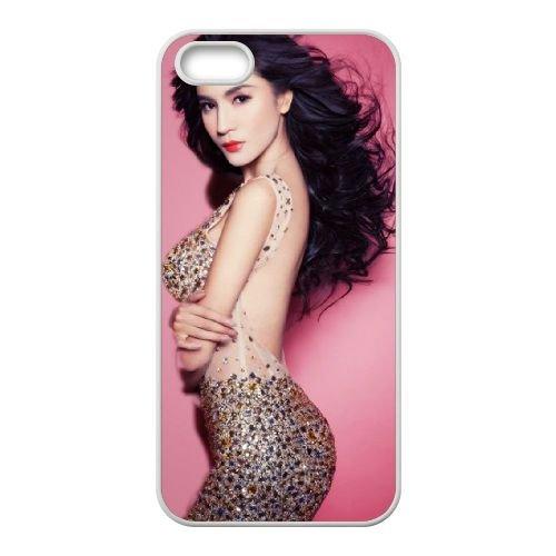 Wang Xiwei Actor Asian Girl coque iPhone 4 4S cellulaire cas coque de téléphone cas blanche couverture de téléphone portable EOKXLLNCD20684
