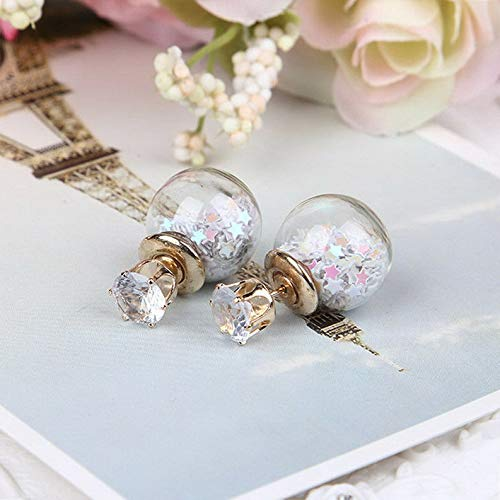 Rhame 1 Pair Fashion Women Lady Elegant Flower Rhinestone Glass Ear Stud Earrings New | Model ERRNGS - 19959 |