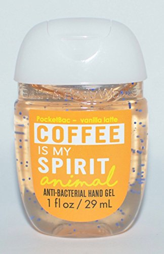 (Bath & Body Works PocketBac Hand Gel Sanitizer Coffee is My Spirit Animal Vanilla Latte)