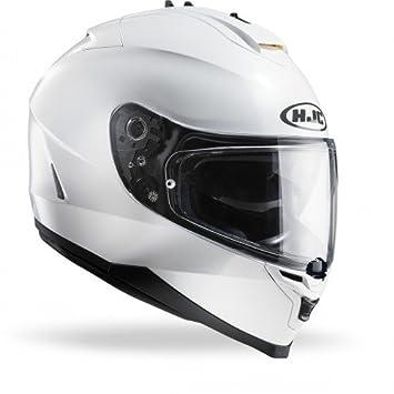 HJC 12152910 Casco de Moto, Blanco Perlado Ryan, Talla XL