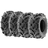 Set of 4 SunF Warrior AT Mud & Trail 26x9-12 Front & 26x11-12 Rear ATV UTV Off-Road Tires, 6 PR, Tubeless A048