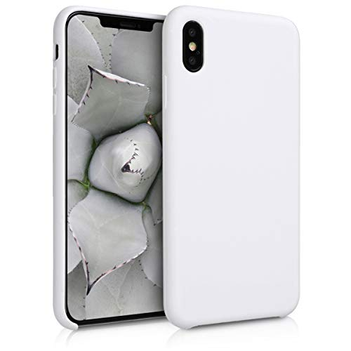 White Solid Case - kwmobile TPU Silicone Case for Apple iPhone Xs Max - Soft Flexible Rubber Protective Cover - White