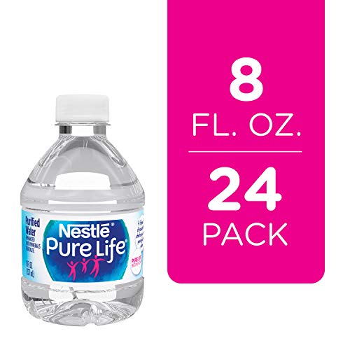 Nestle Pure Life Purified Water, 8 fl oz. Plastic Bottles (24 Pack)