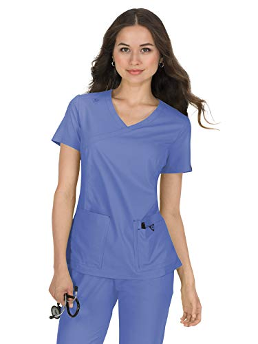 (KOI Basics 374 Women's Katie Scrub Top True Ceil 5XL)