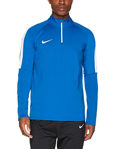 Nike M NK Dry acdmy Drill Top maglietta a maniche lunghe, uomo Blu / bianco (ghiandaia azzurra)