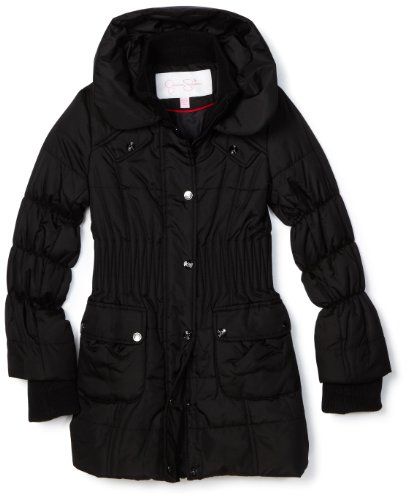Jessica Simpson Coats Big Girls'  Long Quilted Cinch Waist Jacket